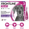 FRONTLINE Tri-Act Flea and Tick Treatment for Large Dogs (3 Pipettes)