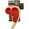 AFP T-bone Steak with Squeaker Dog Toy