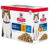 Hills Science Plan Mature Adult 7+ Cat Food Pouches (Favourite Selection)