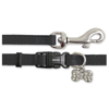 Ancol Deluxe Jewelled Puppy Collar and Lead Set - Black