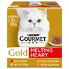 Purina Gourmet Gold Melting Heart Wet Cat Food (Mixed Variety)