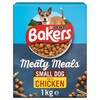 Bakers Meaty Meals Small Dog Adult Dry Dog Food (Chicken) 1kg