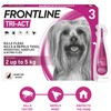 FRONTLINE Tri-Act Flea and Tick Treatment for Extra Small Dogs (3 Pipettes)