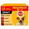 Pedigree Adult Wet Dog Food Pouches in Gravy (Mixed Selection)