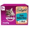 Whiskas 1+ Pure Delight Fish Selection in Jelly Cat Pouches