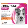 FRONTLINE Tri-Act Flea and Tick Treatment for Small Dogs (3 Pipettes)