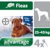 Advantage 400 Flea Treatment for Dogs 4 Pipettes