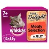 Whiskas 7+ Pure Delight Meaty Selection in Jelly Cat Pouches
