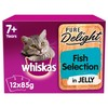 Whiskas 7+ Pure Delight Fish Selection in Jelly Cat Pouches