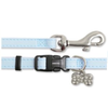 Ancol Deluxe Jewelled Puppy Collar and Lead Set - Baby Blue