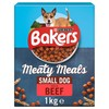 Bakers Meaty Meals Small Dog Adult Dry Dog Food (Beef) 1kg