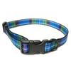 Ancol Tartan Adjustable Nylon Dog Collar Blue