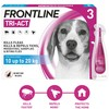 FRONTLINE Tri-Act Flea and Tick Treatment for Medium Dogs (3 Pipettes)