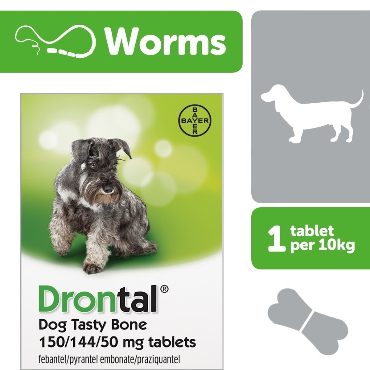 Drontal Dog Tasty Bone Worming Tablets From 1 68