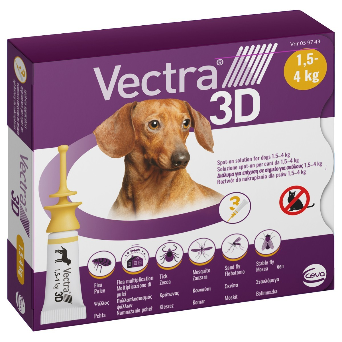 Vectra 3d Spot On For Extra Small Dogs 3 Pack From 8 83