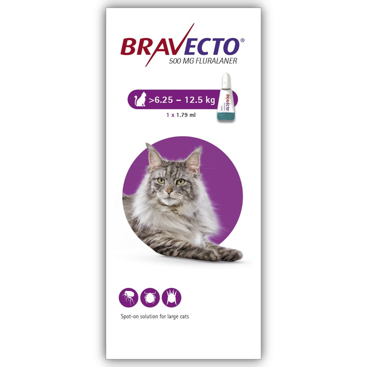 Bravecto 500mg Spot On Solution For Large Cats Single Pipette From 21 96