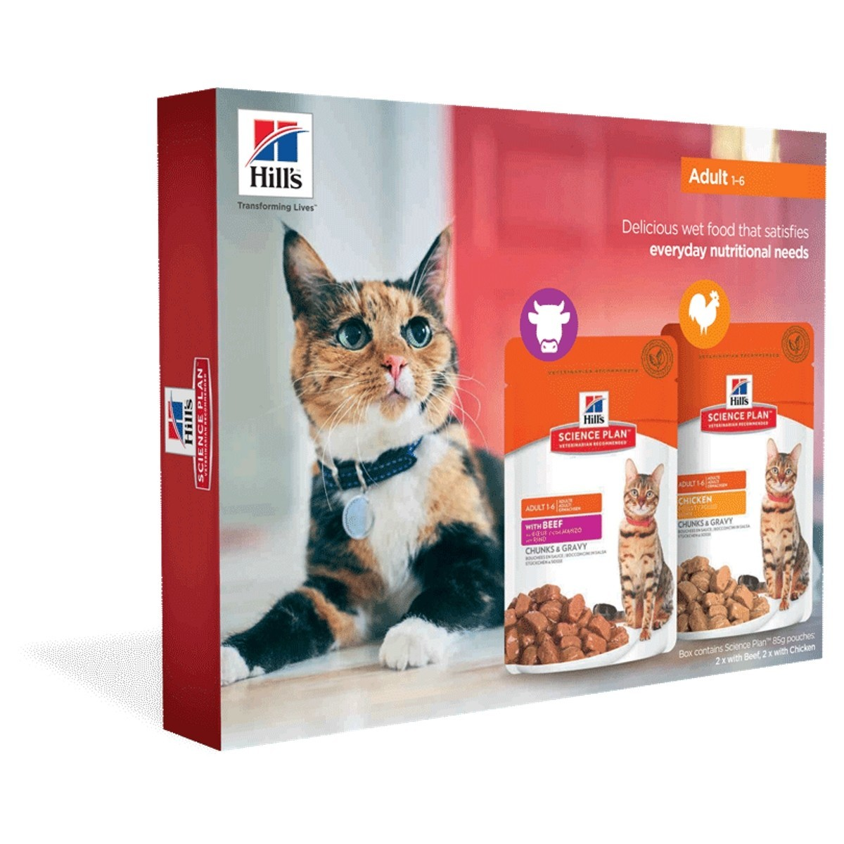Hills Science Plan Feline Adult Cat Food 4 X 85g Pouches Trial Pack From 3 60