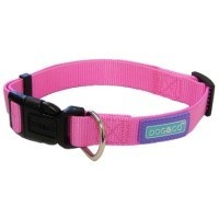 Dog & Co Adjustable Nylon Dog Collar (Pink) big image