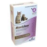 Moxiclear Spot-On Solution for Small Cats and Ferrets (4 Pipettes) big image