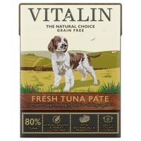 Vitalin Grain Free Adult Wet Dog Food Pate (80% Fresh Tuna) big image