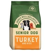 James Wellbeloved Senior Dog Dry Food (Turkey & Rice) big image
