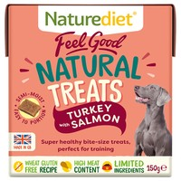 Naturediet Feel Good Natural Dog Treats (Turkey & Salmon) 150g big image