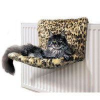 Danish Design Kumfy Kradle Radiator Cat Bed (Leopard Print) big image