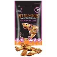 Pet Munchies Salmon Fillets Dog Treats 90g big image