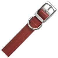 Ancol Heritage Dog Collar Hand Sewn Red Leather big image