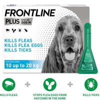 FRONTLINE Plus Flea and Tick Treatment for Medium Dogs big image