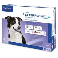 Effipro Duo Spot-On Solution for Medium Dogs (4 Pipettes) big image