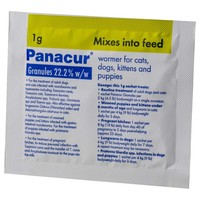 Panacur Wormer Granules 1g big image