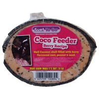 Unipet Suet to Go Half Coco Feeder (Berry) big image