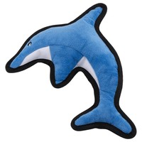 Beco Recycled Rough & Tough Soft Dog Toy (David the Dolphin) big image