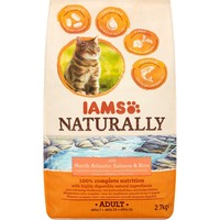 Iams Naturally with North Atlantic Salmon & Rice Adult Cat Food 2.7kg big image