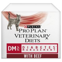 Purina Pro Plan Veterinary Diets DM St/Ox Diabetes Management Wet Cat Food Pouches big image
