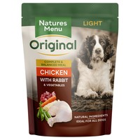 Natures Menu Original Light Adult Dog Food Pouches (Chicken with Rabbit) big image
