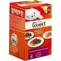 Purina Gourmet Mon Petit Wet Cat Food 6 x 50g Pouches (Indulgent Selection) big image