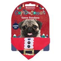 Rosewood Cupid & Comet Light Up Santa Bandana for Dogs big image
