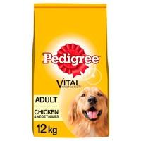 Pedigree Complete Adult Dry Dog Food (Chicken & Vegetable) 12kg big image