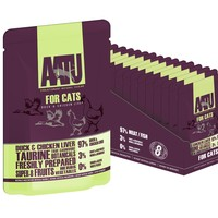 AATU Adult Cat Wet Food Pouches (Duck & Chicken Liver) big image