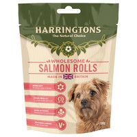 Harringtons Salmon Rolls Treats for Dogs 100g big image