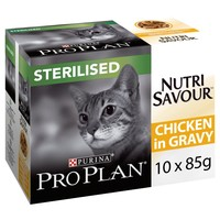 Purina Pro Plan NutriSavour Sterilised Adult Cat Wet Food (Chicken) big image