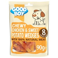 Good Boy Chewy Chicken & Sweet Potato Wedges 90g big image