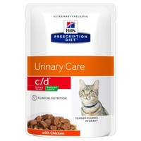 Hills Prescription Diet CD Urinary Stress Reduced Calorie Pouches for Cats big image