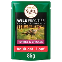 Nutro Wild Frontier Adult Cat Wet Food Pouches (Turkey & Chicken) big image