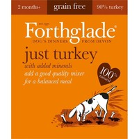 Forthglade Just Turkey Grain Free Dog Food (18 x 395g) big image