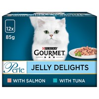 Purina Gourmet Perle Jelly Delight Wet Cat Food (Fish Selection) big image