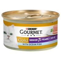 Purina Gourmet Gold Pate Senior Wet Cat Food Tins (12 x 85g) big image