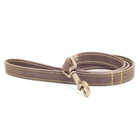 Ancol Timberwolf Leather Dog Lead (Sable) big image